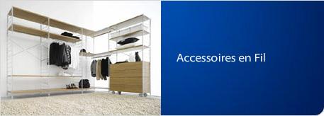 Accessoires en fil métallique